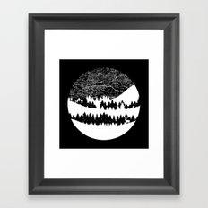 Map Silhouette Circle Framed Art Print