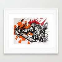 gladiator Framed Art Prints featuring Steampunk Gladiator  by RISE Arts