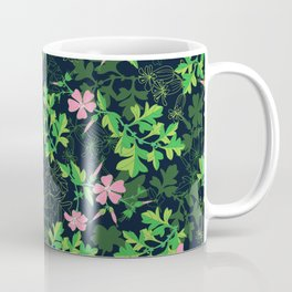 Forest Wildflowers / Dark Background Coffee Mug
