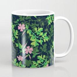 Forest Wildflowers / Dark Background Coffee Mug
