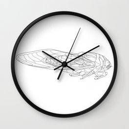 Cikada lineart Wall Clock