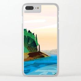 Angel Island Clear iPhone Case