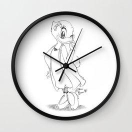 Daisy sketch - black&white vrs. Wall Clock