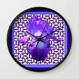 Decorative  purple Iris Optical Pattern Art Wall Clock