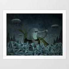 Naufrago Art Print
