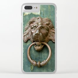 Lion heads of precious metal Clear iPhone Case