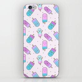 Cute kawaii ice cream iPhone Skin