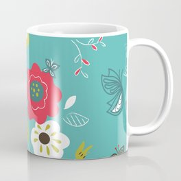 Butterfly floral Coffee Mug
