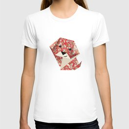 Origami Puppies With Yellow Background T-shirt