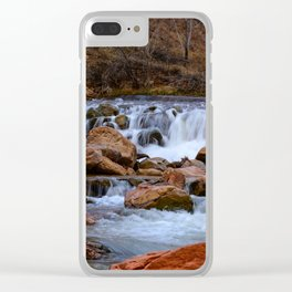 Virgin_River Falls 0848 - Zion Court Clear iPhone Case