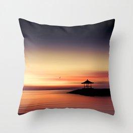 the silent sea Throw Pillow
