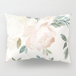 Vintage Blush Floral - softest pastel Pillow Sham