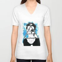 jared leto V-neck T-shirts featuring jared triangle leto by anxiety