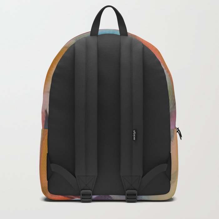 Heavenly Rose Petals Abstract - Orange Backpack