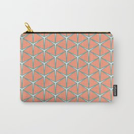 LOUPE melon aquamarine white create a warm edgy pattern Carry-All Pouch