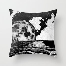 Night tide Throw Pillow