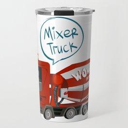 Cute Mixer Truck Travel Mug