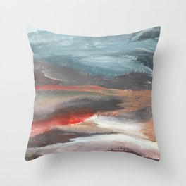 Serenity [2]: an acrylic piece in both warm and cool colors by Alyssa Hamilton Art Throw Pillow