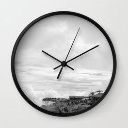 Dragon Jade Mountain Wall Clock