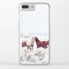 Winter Horseland Clear iPhone Case