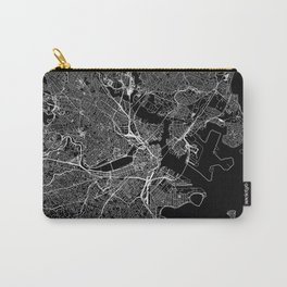 Boston Black Map Carry-All Pouch
