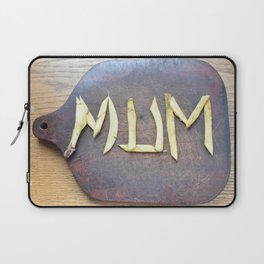 Mother's Day design with banana skin. Laptop Sleeve