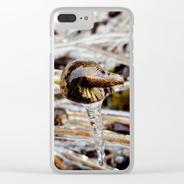 Sunflower Stalk in Ice II Clear iPhone Case