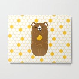The Honey Bear Metal Print