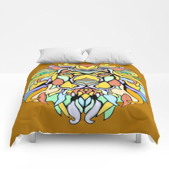 Metallic Lion Comforters