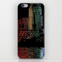 cincinnati iPhone & iPod Skins featuring Cincinnati Nights by Tambergal