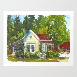 Apple Tree Inn Art Print