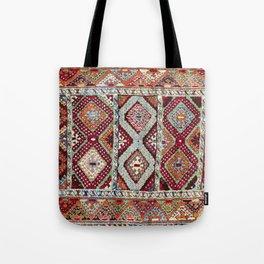 Gaziantep  Antique Turkish Rug Print Tote Bag