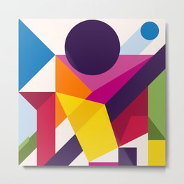 Abstract modern geometric background. Composition 8 Metal Print