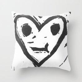 :-/ Heart Throw Pillow