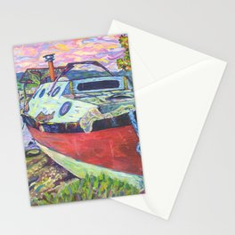 Claude's Boat Stationery Cards