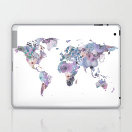 Watercolor Floral Map Laptop & iPad Skin