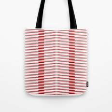Red lines Tote Bag