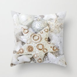 White Christmas decorative ornaments Throw Pillow