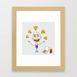 The Passion of the Pizza Framed Art Print