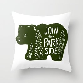 Join the Park Side Bear Throw Pillow