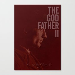 The Godfather Part II, Robert De Niro, Al Pacino, American movie poster Canvas Print