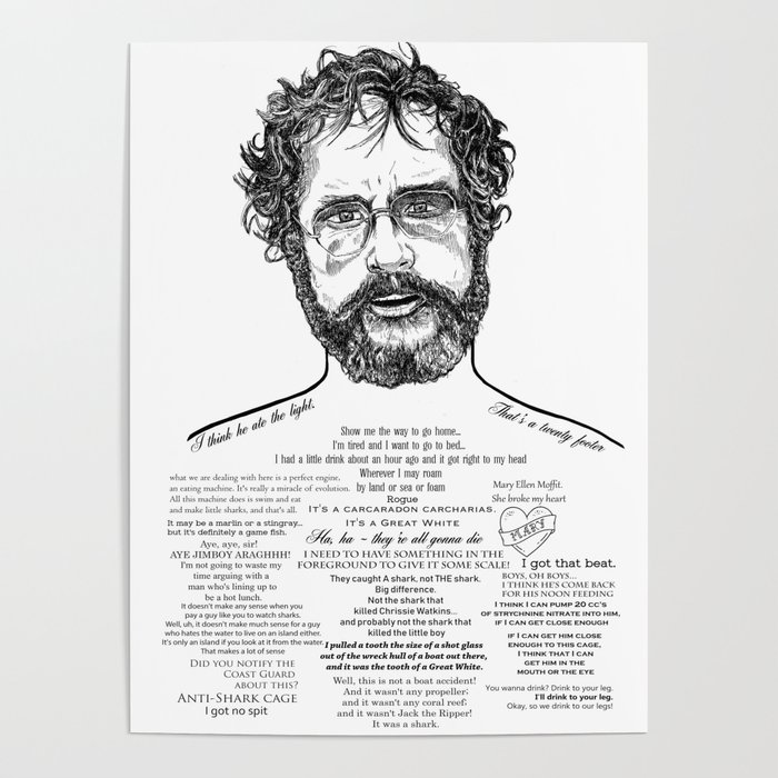 Jaws Dr Hooper Ink'd Series Poster