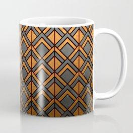 Cascading Squares Copper and Black - Art Deco Pattern Coffee Mug