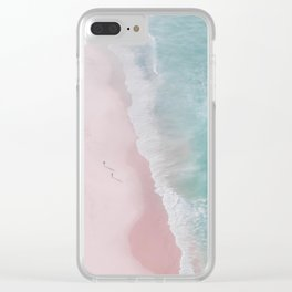 ocean walk Clear iPhone Case