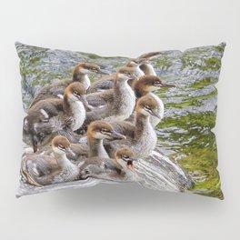 10 Little Mergansers on a Rock Pillow Sham