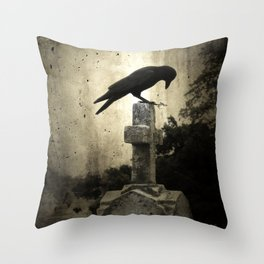 The Crow's Cross Throw Pillow