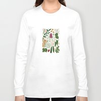 plants Long Sleeve T-shirts featuring Plants by Roxanne Bee