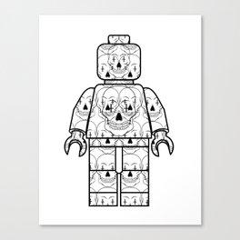 Skull-Brick Canvas Print