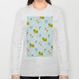 Seamless colorful flowers pattern Long Sleeve T-shirt