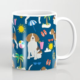 Beagle beach vacation dog breed lover beagles must haves summer gifts Coffee Mug